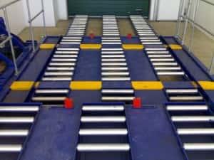 Warehouse Roller Bed system, Roller beds, roller bed refurbishment, roller bed installation,