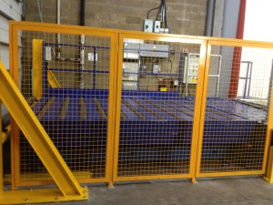 Fencing panels, warehouse fencing, metal fabrication,