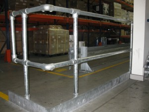 Hand rail, hand rail installation and fabrication, warehouse hand rails,